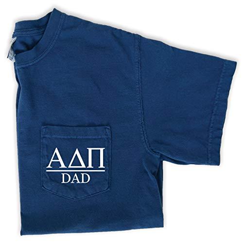 Alpha Delta Pi Dad Shirt | Sorority Comfort Colors Pocket Tee (XL) Navy