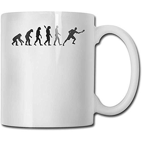 Tischtennis-Evolution Kaffee-Haferl Bestes Geschenk, weiße Tasse