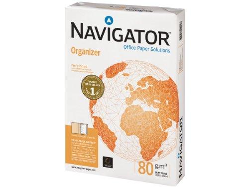 Navigator Organizer, Formato A4, 80 gr, 4 Fori, Risma da 500 fogli