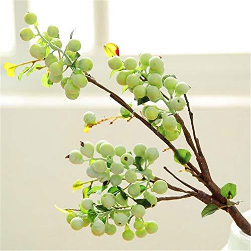 ZJJZH Kunstmatige Decoratieve Bloemen Cranberry bessen bosbessen simulatie plant fruitboomtak Amerikaanse schieten rekwisieten kunstbloemdecoratie Kunstbloemen.