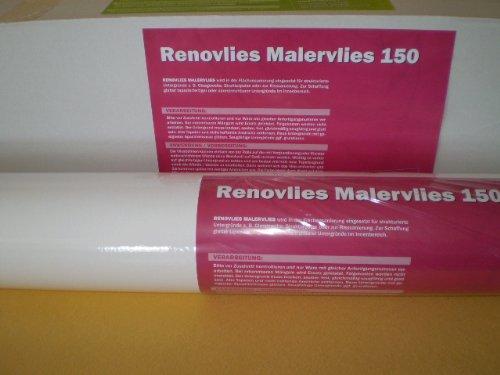 Renovlies Malervlies Anstrich-Vlies glatte überstreichbare Vliestapete weiß 150g 25 qm 1 Rolle