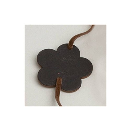 Aptafêtes 6 Bracelets Ardoise Fleur Chocolat