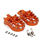 AnXin Foot Pegs Footpegs Footrests Foot Pedals Rests CNC MX for SX SXS XC EXC MXC XCW SMR Freeride SMC Adventure Enduro Supermoto 65 85 125 150 200 250 300 350 380 400 450 500 525 530 540 560