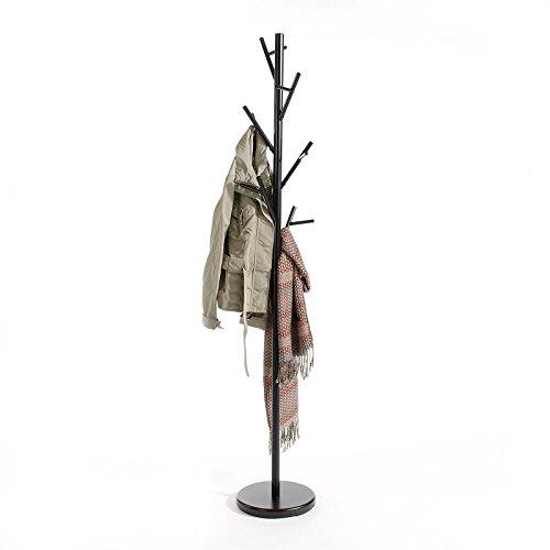 IDIMEX Porte-Manteaux ZENO Portant à vêtements sur Pied en Forme d'arbre avec 6 Crochets sur différentes hauteurs, en métal laqué Noir