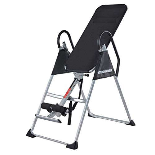 DSHUJC Inversion table Can fold the inversion table with inversion table, inverted table for the back, folding for back exercises, size up to 198 cm, up to 135 kg