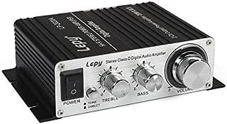 Lepy LP-2020A Hi-Fi Digital Amplifier, Mini Stereo Audio Amplifier with Power Supply Black US