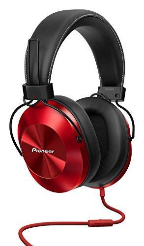 Pioneer SE-MS5T(R) Over-Ear Kopfhörer (High-Res Audio Wiedergabe, Freisprechfunktion, hoher Tragekomfort, hohe Klangqualität, für Smartphone, Tablet, Hifi Anlage, Aluminium Design), Rot