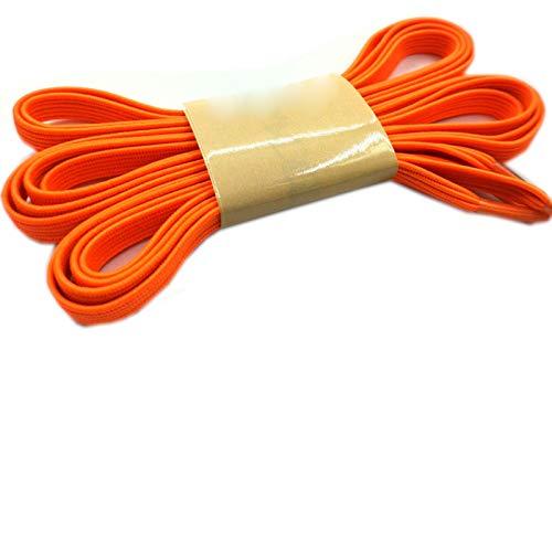 Friendshiy - Cordones planos elásticos, zapatos de corbata creativos para adultos y niños, cordones de zapatos deportivos coloridos, (05 naranja.), Talla única