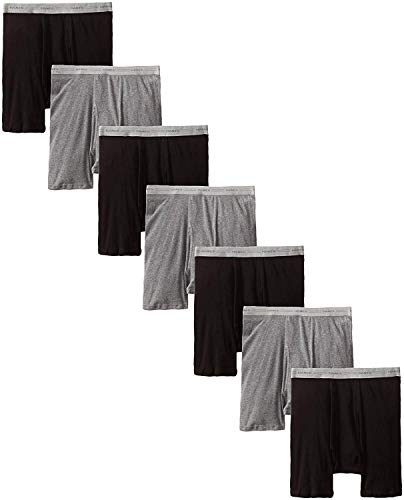 Hanes Men's ComfortFlex Waistband Boxer Brief ((Small (28-30) Waist), Black/Grey...