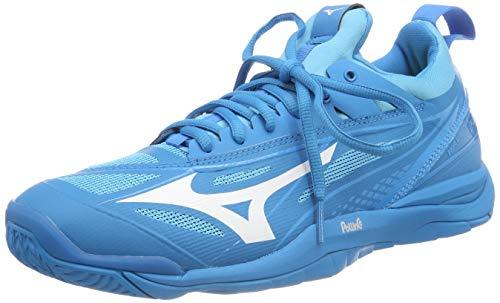 Mizuno Herren Shoe Waver Mirage Sneakers, Blau (Bjewel/Wht/Hocean 001), 44.5 EU