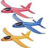 Comius Sharp Planos de Espuma, 3 Pcs Avin Planeador, Modelo de Avion Deportes al Aire Libre Volar Juguete, Que lanzan los planeadores de Whirly Glider para los Cabritos, favores de la Fiesta