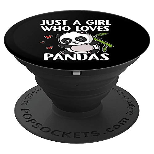 Just A Girl Who Loves Pandas Panda Bear Cute Panda Costume PopSockets Grip and Stand for Phones and Tablets