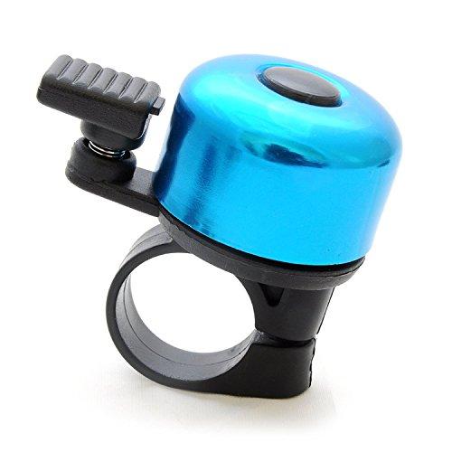 Dewuseller Reto Fahrradklingel Ring Fahrradglocke mit Aluminium »Ding Dong« Laut Fahrrad Klingel (Blau)