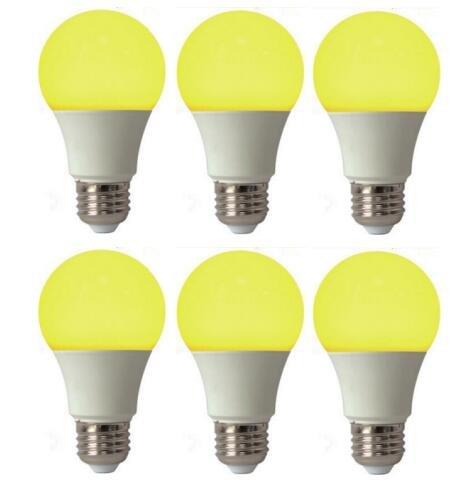 Best to Buy (4 PACK) Bug Light Yellow LED A19 5Watt=40W Medium Base 85-265 Volt UL Listed LED Light Bulb, last 25,000 Hours