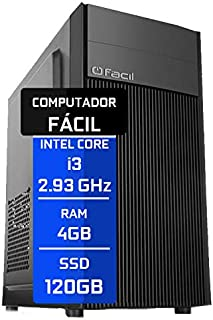 Computador Fácil Intel Core I3 2.93Ghz 4GB DDR3 SSD 120GB