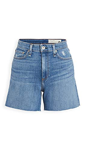 Rag & Bone/JEAN Women's Nina High Rise Shorts, Palmer, Blue, 24