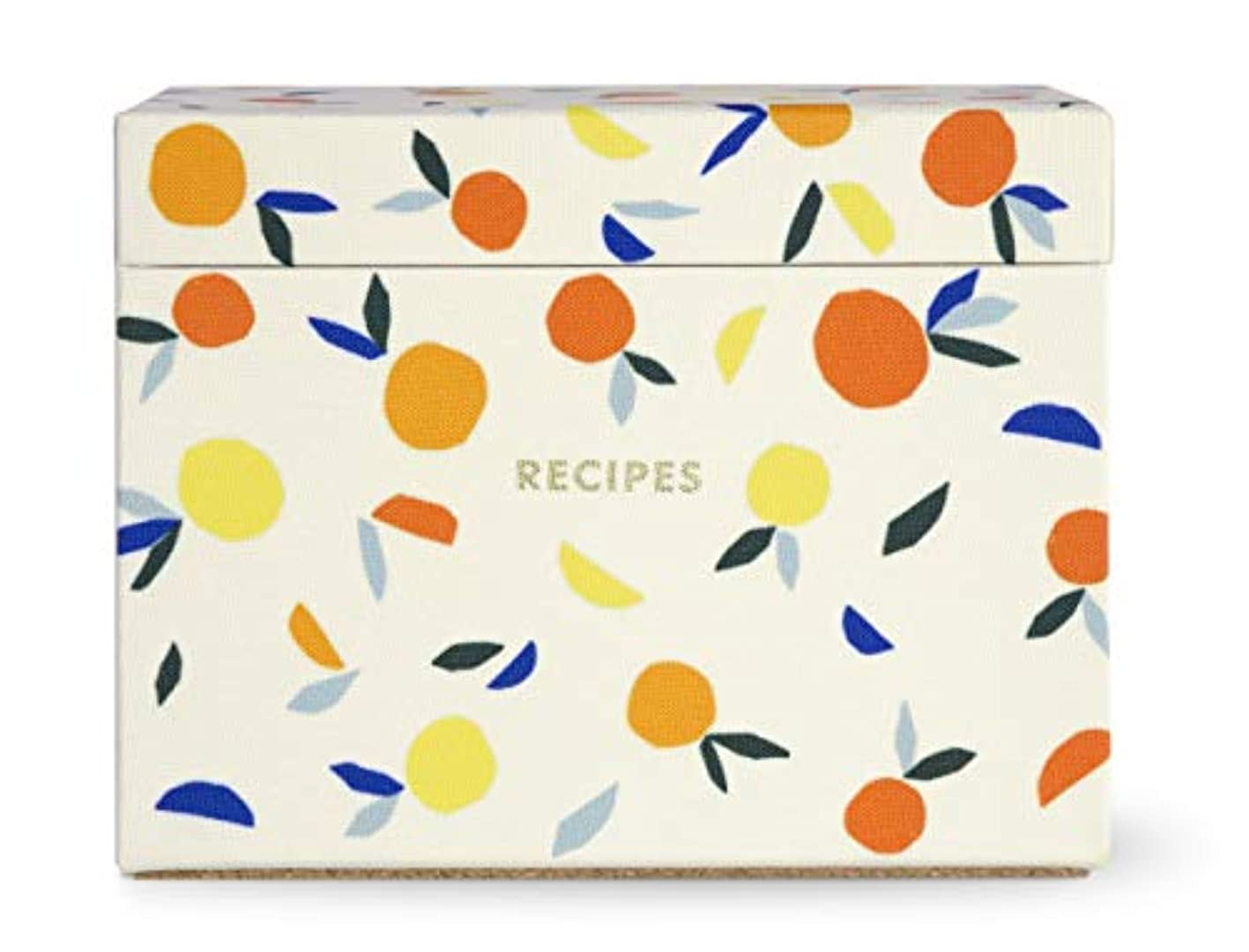 Kate Spade New York Recipe Box with 40 Double Sided Recipe Cards (Citrus Twist) yicpslxqwty759