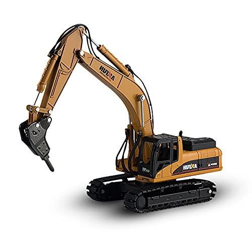 Control Remoto Excavadora camión, 2.4G Grande picadora Vehículo de Juguete RC Recargable, 1:50 simulación Completa de excavación Funcional para Regalo de los niños
