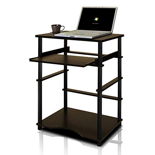 Furinno 10016EX/BK Home Laptop Notebook Computer Desk, Espresso/Black