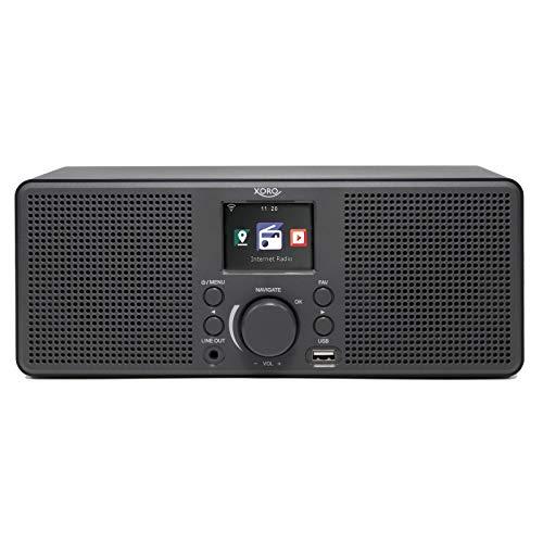 Xoro HMT 420 Internetradio mit WLAN, USB Musikplayer + Ladebuchse, Wetterstation, Wecker, 8 Schlafklänge, 6 cm TFT Display + ID 3 Tag