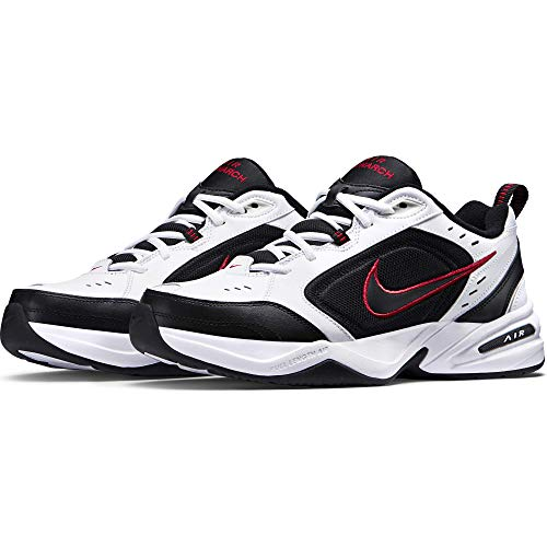 Nike Men's Air Monarch IV Cross Trainer, White/Black, 6.5 4E US