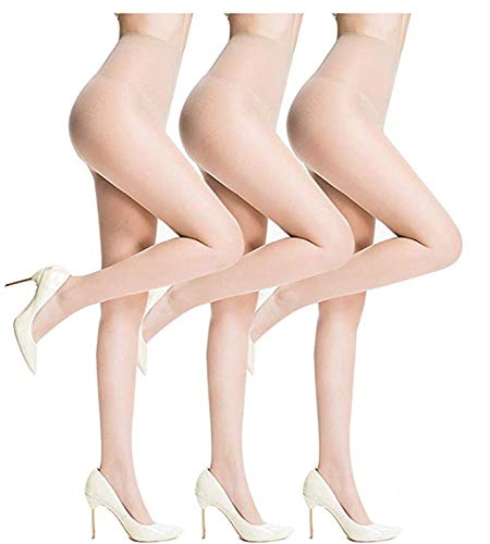 Sheer Pantyhose for Women 3 Pairs Durable and...