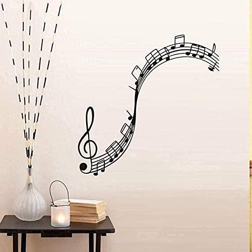 Graceful Music Notes DIY pegatinas de pared música aula decoración de pared lindo patrón calcomanías instrumento musical papel pintado decoración de la habitación 59 x 59 cm