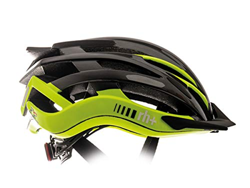zerorh+ Helmet Twoinone, Caschi Bici Bike Helmets Permanent Unisex – Adulto, Shiny Anthracite Metal-Shiny Yellow Fluo, L/XL