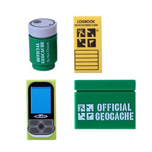 geo-versand Custom Geocaching Accessory Brick Pack Lego Geocaching Geocoin Set Geschenk