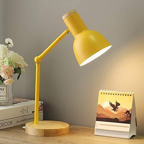 JYDQM Lámpara de Mesa Moderna for el Dormitorio lámpara de cabecera nórdica Led lámpara de Escritorio del Estudiante Embroma la Lectura de Estudio de la lámpara E27 Oficina (Color : B)