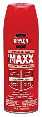 Krylon K09194000 COVERMAXX Spray Paint, Metallic Gold, 12 Ounce