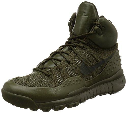Nike Men's Lupinek Flyknit, CARGO KHAKI/SEQUOIA, 10 M US