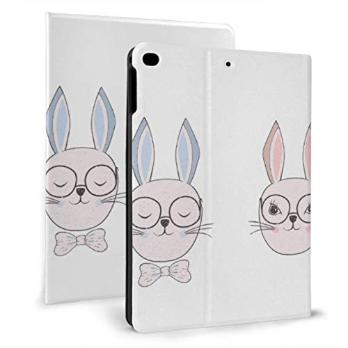 Ipad Cover Protector Glasses Rabbit Lovely Ears Ipad Kids Protective Case For Ipad Mini 4/mini 5/2018 6th/2017 5th/air/air 2 With Auto Wake/sleep Magnetic Ipad Cover For Girls