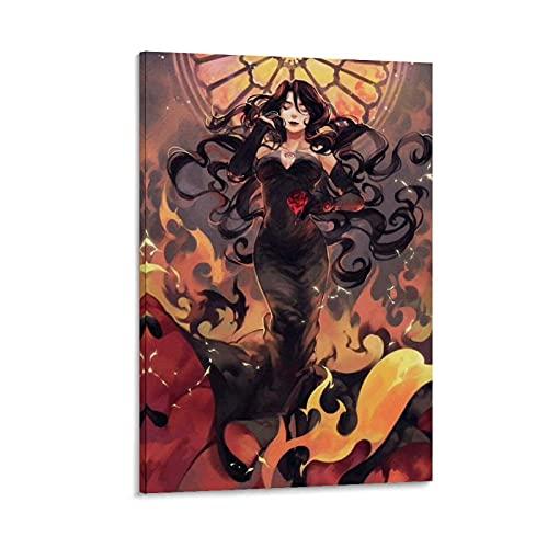 Póster de anime Lust Fullmetal Alquimista Pintura decorativa Lienzo Arte de la pared Carteles de la sala de estar Pintura del dormitorio 40 x 60 cm