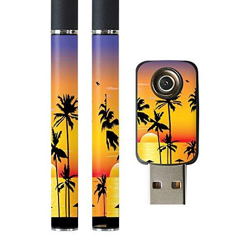 igsticker プルームテック Ploom TECH 専用スキンシール バッテリー スティック USB充電器 カバー ケース 保護 フィルム ステッカー スマコレ 003483 写真・風景 海 風景 景色