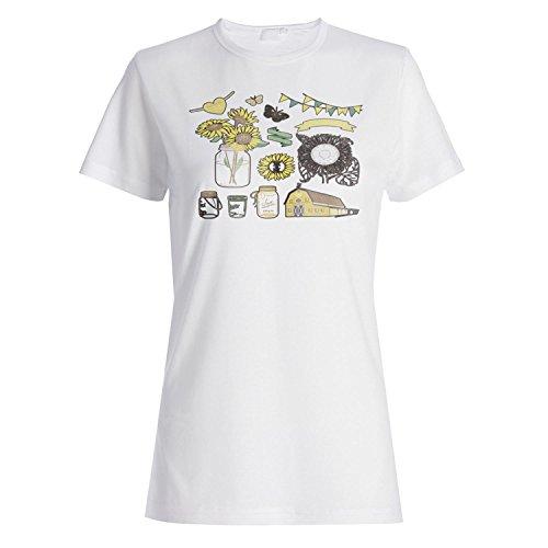 INNOGLEN Te Amo Boda Novedad tarros de Cristal Arte Vintage Camiseta de Las Mujeres a133f