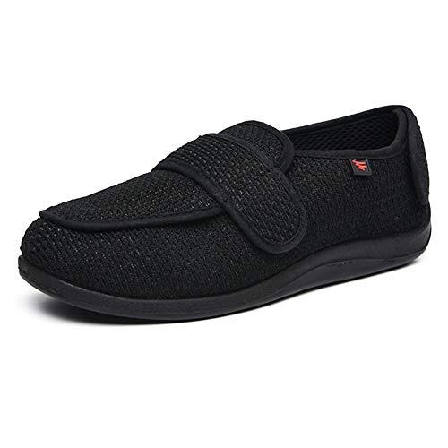 YISHIO Los Zapatos ortopédicos for la Diabetes Mujeres de los Hombres Hallux valgus Zapatillas Edema Ultra-Ancha Ajustables facilitar el Las Personas Edad Avanzada con Fascitis Plantar Unisex