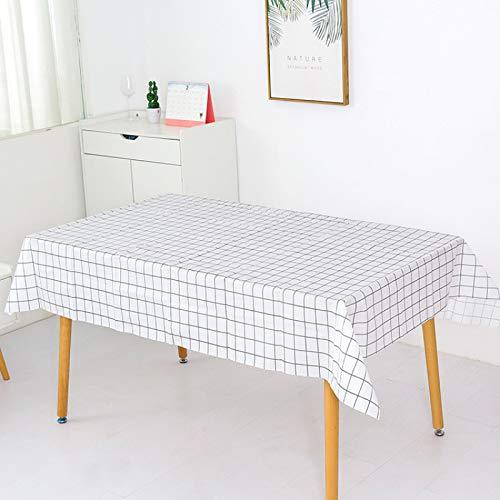 marca blanca Mantel de lino y algodón lavable, diseño de borla, mantel rectangular ideal para cocina, comedor, decoración de bufet, 137 x 152 cm