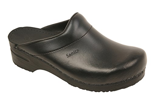 Sanita Herren Karl Pu Open Clogs, Schwarz (Black 2), 48 EU