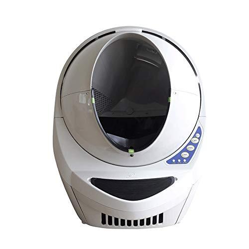 Sdesign Gato Inteligente automático WC Completamente Cerrado eléctrico Inteligente Gato del Animal doméstico del tocador del tocador Desodorantes for Mascotas Pet Grande