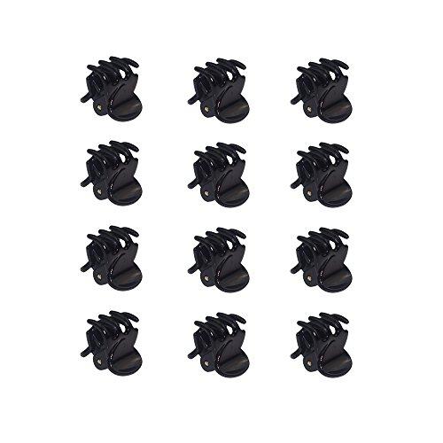 Haobase–Mini-Haarklammern, Farbe: Schwarz, 12Stück