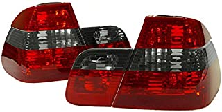 DEPO Crystal Euro Red/Smoke/Red Rear Tail Light FIT 2002-2005 BMW E46 3 Series 4D Sedan
