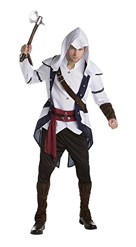 Palamon Men's Assassin's Creed Connor Classic Costume, White, Large
