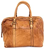 BZNA Berlin Sofia cognac Vintage Business Aktentasche Handtasche Damentasche Herrentasche Echt Leder Ledertasche Handtasche Bag