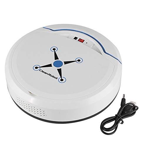Zerodis Aspirapolvere Robot Intelligente Pulitore USB Aspirapolvere Automatico per la Pulizia della casa(Bianco)