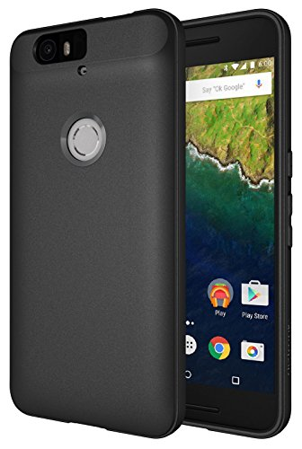 Diztronic Nexus 6P Case, Full Matte Slim-Fit Flexible TPU Case for Huawei Nexus 6P (2015) - Black - (N6P-FM-BLK)
