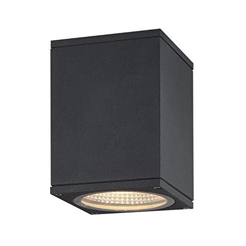 SLV LED Deckenleuchte ENOLA SQUARE S / für die Außenbeleuchtung von Decken, Wegen, Eingängen, LED Leuchte, Decken-Lampe, Aufbau-Down-Light, Gartenlampe, CCT-Switch (3000/4000 Kelvin), 510/580 lm, 9W