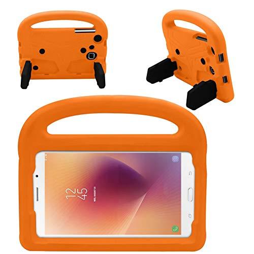 QiuKui Tab Funda para Samsung Galaxy Tab A A6 7.0 Pulgadas, Funda de Silicona a Prueba de Golpes para niños para Samsung Galaxy Tab A A6 7.0 Pulgadas 2016 SM-T280 SM-T285 (Color : Orange)