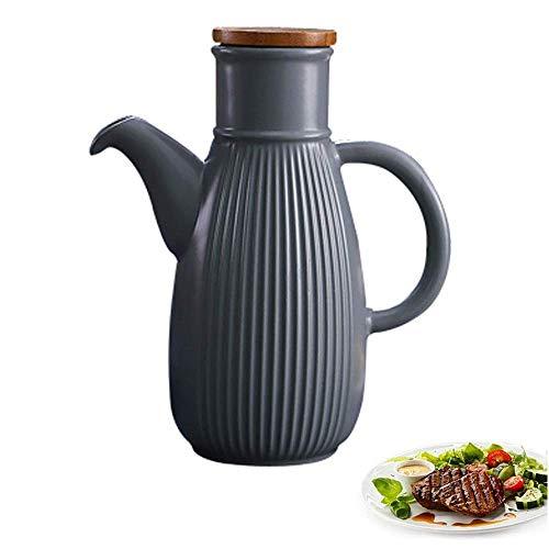 Bouteille de Vinaigrette de Distributeur d'huile d'olive en Porcelaine, Outils de Cuisine Distributeur d'huile d'olive ou de vinaigre Couleur rétro