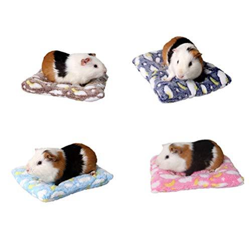 POPETPOP Hamsterbett für Kleintiere, Meerschweinchen, bequem, Winter, warm, Eichhörnchen, Igel, Kaninchen, Chinchilla-Matte, Nest (zufällige Farbe)